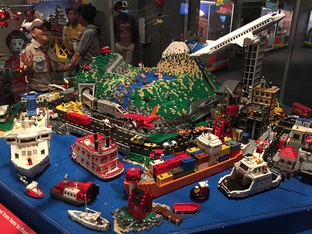 Lego by land, sea, and air