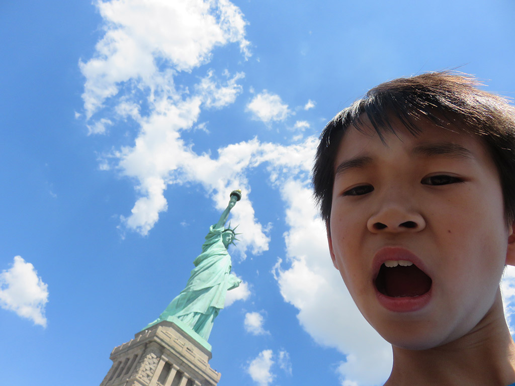 We made it to the Statue of Liberty